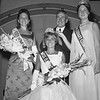 THE GOSHEN NEWS | August 6, 1968<br /> Connie Lantz of New Paris smiles while being crowned the 1968 Elkhart County Fair queen by Lt. Gov. Robert L. Rock and Sue Rowland, right, the 1967 queen. At left is Jane Blair of Goshen, the first runner-up in then contest in which 22 girls were competing for the title. Miss Lantz is a Fairfield High School junior, living near New Paris.