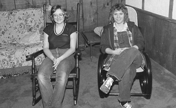 THE GOSHEN NEWS | March 13, 1982 <br />  Thirteen members of Nazarene Youth International of First Nazarene Church rocked from 9 p.m. Friday until 9 a.m. this morning to collect money for telephones for missionaries in Bolivia. The teens raised $325 during the rock-a-thon. Collecting the most funds were Tammy Smucker with $80.40 and Jenny Eldridge, $47.40 Also rocking at the home of Mr. and Mrs. David Smith, 1500 S. 15th St. were Jeff Smith, Tammy Lambdin, Steph eldridge, Jodi Smith, Kenneth Hacker, Tim Perrin, Tina Lambdin, April Smith, Dara Worthington, Eika Eldridge and Kimberly Hacker.