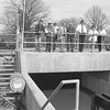 THE GOSHEN NEWS | APRIL 25, 1989<br /> The new wastewater treatment plant at Syracuse began operation Monday. Operation of the complete facility will probably not be done until the fall, but officials said 90 percent of the plant is functioning. Pictured, from left, are 3 Randy Lindley, project engineer from Ten-Ech; Ron Helman, sewer department superintendent; Tom Clevidence, resident engineer; James Hughes, town board president; Bill Hess, former town board member; board members Kenny Johnson, Carol Koble and Barbra Carwile. Hess was credited with working on the project for several years during his tenure. Not picture is town board member Carl Myrick who was board president when the treatment plant update began. The treatment plant was constructed at a cost of $3.4 million. The collection system cost was $941,000