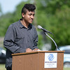 HALEY WARD | THE GOSHEN NEWS<br /> Isaiah Conder, Youth of the Year of the Boys & Girls Clubs, thanks the donors during the Groundbreaking Ceremony at the Boys & Girls Club of Goshen on Thursday.