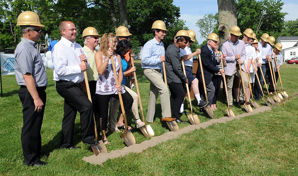 HALEY WARD   THE GOSHEN NEWS<br /> Donors and local leaders breakground for the $5.6 million at the Boys & Girls Club of Goshen on Thursday.