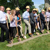 HALEY WARD | THE GOSHEN NEWS<br /> Donors and local leaders breakground for the $5.6 million at the Boys & Girls Club of Goshen on Thursday.
