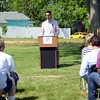 HALEY WARD | THE GOSHEN NEWS<br /> Mayor Jeremy Stutsman speaks during the Groundbreaking Ceremony at the Boys & Girls Club of Goshen on Thursday.