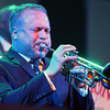 MICHAEL WANBAUGH | THE GOSHEN NEWS<br /> Preservation Hall Jazz Band trumpet player Mark Braud performs a solo at Elkhart's Lerner Theater as part of the 27th Annual Elkhart Jazz Festival Friday night.