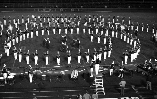 THE GOSHEN NEWS PHOTO  THE GOSHEN NEWS | OCT. 12, 1992<br /> The Concord Marching Minutemen was the top-scoring band at the first Crimson Marching Band Invitational at Goshen High School Saturday.