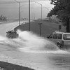 THE GOSHEN NEWS PHOTO  THE GOSHEN NEWS |  OCT. 26, 1991<br /> Motorists driving south onto the overpass in Goshen had to slow down for puddles Friday as heavy rain quickly filled storm drains. There was 3.05 inches recorded at the Goshen College weather station, a record for that date. More rain is in the forecast.