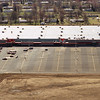 THE GOSHEN NEWS PHOTO  March 18, 1995<br /> This aerial photograph shows the new Meijer store on Elkhart Road, which is set to open Tuesday. Meijer has hired 750 people for the Goshen store, which will open the same day as the new Meijer store at U.S. 20 and Ind. 331. Meijer combines groceries and general merchandise under one roof and is open 24 hours a day. The Goshen store, at 220,000 square feet will be the largest retail operation in Elkhart County. It will have 45 departments and more than 100,000 different products.