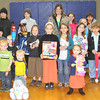 SHERRY VAN ARSDALL | THE GOSHEN NEWS<br /> This group of children won prizes in the Millersburg Lions Club Easter Egg Hunt at Millersburg Elementary School Saturday.