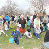 SHERRY VAN ARSDALL | THE GOSHEN NEWS<br /> There were more than 300 children hunting for 8,000 eggs  in the Millersburg Lions Club Easter Egg Hunt at Millersburg Elementary School Saturday.
