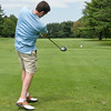 SAM HOUSEHOLDER | THE GOSHEN NEWS<br /> David Swihart of Yoder, Ainlay, Ulmer and Buckingham, tees off during the Goshen Chamber of Commerce Tennis and Golf Outing Wednesday at Maplecrest Country Club.