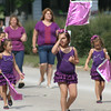 JULIE CROTHERS | THE GOSHEN NEWS<br /> Members of Karen's Kaydettes danced and twirled flags during Saturday's Millersburg Farmer's Days parade. The Kaydettes took first place in the kiddie division Saturday.