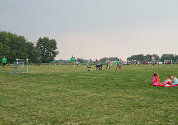 SAM HOUSEHOLDER   THE GOSHEN NEWS<br /> Teams play at the new Nappanee Soccer Complex. The complex spent years in the works but is finally open for the youth soccer groups of Nappanee.