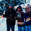 From left, Joshua Baxter, Mike Linn and Earl Hossler stand outside Baxter's home on Thursday. The three are getting ready for a Toys for Tots toy drive at Baxter's residence, 1406 Hickory, on Saturday from 5 p.m. until 7 p.m. The three go all out for Christmas, decorating their homes with thousands of lights.