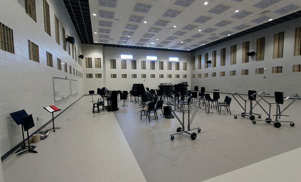 JOHN KLINE | THE GOSHEN NEWS<br /> This big, multipurpose music room is one of several new additions recently completed at Fairfield High School set to be unveiled to the public during a special open house at 1 p.m. Sunday.
