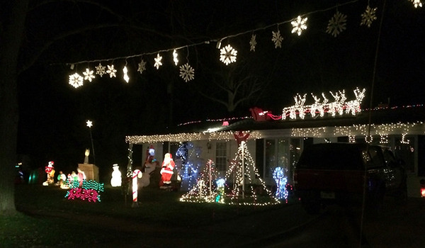 BRENDA DONAT | THE GOSHEN NEWS<br /> Neighbors in West Goshen are celebrating the season at Hickory Place with a variety of colorful Christmas displays.