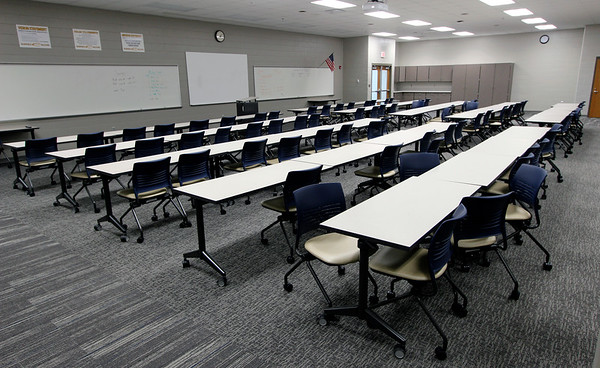 JOHN KLINE | THE GOSHEN NEWS<br /> This large group instructional room is one of a number of new additions recently completed at Fairfield High School set to be unveiled to the public during a special open house at 1 p.m. Sunday.