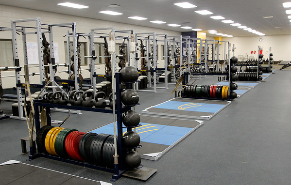 JOHN KLINE | THE GOSHEN NEWS<br /> This large, open fitness and weight lifting room is one of several new additions recently completed at Fairfield High School that will be unveiled to the public during an open house at 1 p.m. Sunday.