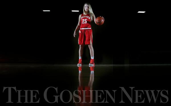 MICHAEL CATERINA   THE GOSHEN NEWS<br /> Goshen girls basketball coach Lenny Krebs.