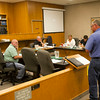 SAM HOUSEHOLDER | THE GOSHEN NEWS<br /> Street Department commissioner Denny Long speaks to the Goshen City Council Tuesday during the annual summit at the Police and Courts Building in Goshen.