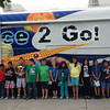 PHOTO PROVIDED<br /> Students at Goshen Community Schools pose for a photo in front of the Science 2 Go! during summer school activities last year. School officials will again use the bus to engage students in summer school, which began on Monday.