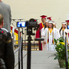 SAM HOUSEHOLDER | THE GOSHEN NEWS<br /> Cameras are focused on the first group of Westview High School seniors Friday as they prepare to cross the stage and receive their diplomas.
