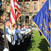 Roger Schneider | The Goshen News<br /> THE COLOR GUARD presents its flags to those attending the annual Memorial Day service on the courthouse lawn in Goshen Monday morning.