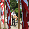 Roger Schneider | The Goshen News<br /> VETERANS OF FOREIGN WARS chaplain Roger Byak gives the benediction at the start of Monday's Memorial Day services in front of the veterans memorial on the lawn of the Elkhart County Courthouse in Goshen.