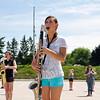 SAM HOUSEHOLDER   THE GOSHEN NEWS<br /> Northridge sophomore Imani Warner plays bass clairinet during practice last week.
