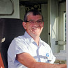 SAM HOUSEHOLDER | THE GOSHEN NEWS<br /> Gary Miller sits in his postal delivery truck at the Goshen Post Office. Miller will retire after 44 years at USPS on Aug. 1.