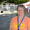 SAM HOUSEHOLDER | THE GOSHEN NEWS<br /> Judy Good stands next to the horseshoe pits at the Elkhart County 4-H Fair Wednesday. Good took over running the horseshoe competition from her late husband Sam.