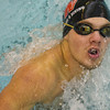 NorthWood senior Riley Smith swims the 100 yard butterfly during boys swimming sectionals Thursday.