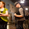 JAY YOUNG | THE GOSHEN NEWS<br /> Katie Brenneman, of Elkhart, spins away from dance partner Matt Smith, of South Bend, as the duo dances West Coast Swing style at Go Dance Studio on Thursday evening.