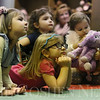 JAY YOUNG | THE GOSHEN NEWS<br /> Five-year-old Alena Hochstetler rests her chin in her hands as she listens intently during Storytime at the Goshen Public Library on Wednesday morning.