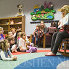 JAY YOUNG | THE GOSHEN NEWS<br /> Children's librarian Tina Ervin reads a story during Storytime at the Goshen Public Library on Wednesday morning.