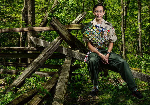 JAY YOUNG | THE GOSHEN NEWS.<br /> Eagle Scout Nathan Hite, of Elkhart, just completed his 143rd merit badge with the Boy Scouts. Hite, who is a member of New Paris Boy Scouts Troop 12, now has more merit badges than any other scout in the country.