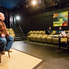 JAY YOUNG | THE GOSHEN NEWS<br /> Joel Thompson, of Mishawaka, reads lines for the role of Farmer Dale with casting director for the upcoming feature film The Shade Shepherd, Carrie Lee Bland-Kendall, Wednesday morning at Art House, 211 South Main Street. Thompson said he has been acting for several decades, mainly theatrically, but more recently he has been involved with local film and thought it would be fun to do some acting. The casting call continues Thursday from 10 a.m. until 7 p.m. at Art House.