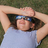 Roger Schneider | The Goshen News<br /> Rowan Finnigan, a Concord Intermediate School sixth-grader, watches the solar eclipse Monday as part of a class event.