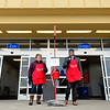 BEN MIKESELL | THE GOSHEN NEWS<br /> Interra Credit Union employees Nicky Shields of New Paris, and Matt Wells of Goshen, ring bells for the Salvation Army on Wednesday outside of Walmart in Goshen.