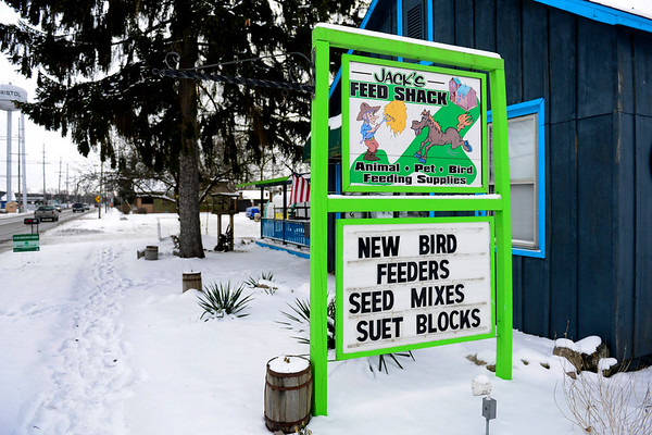 BEN MIKESELL | THE GOSHEN NEWS<br /> Jack's Feed Shack in Bristol specializes in various types of feed for chickens, birds and deer.