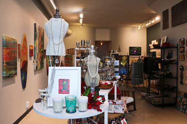 LEANDRA BEABOUT | THE GOSHEN NEWS<br /> Inside n. wirt design & gallery, Nanci Wirt has curated a collection of local art for shoppers and clients to enjoy in their own homes.