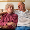 JAY YOUNG | THE GOSHEN NEWS<br /> With his arm around her, Don Stover looks over at his wife Rose as she talks about their life together on Wednesday in their home. Don and Rose married on Valentine's Day in 1947 and are celebrating their 70th anniversary this year.