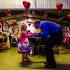 JAY YOUNG | THE GOSHEN NEWS<br /> Josh Hren finds an empty spot on the dance floor to dance with his daughter Catherine, 5, both of Goshen, during the Daddy Daughter Valentine's Dance hosted by Goshen Parks and Recreation on Thursday evening at the Elkhart County fairgrounds.