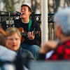 JAY YOUNG | THE GOSHEN NEWS<br /> Chris Collat gives an outdoor concert on the patio of the Goshen Brewing Company on Wednesday evening.