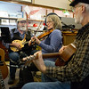 JAY YOUNG | THE GOSHEN NEWS<br /> From left, Steve Seever, Beverly Smith and Steve Braden, of the Waterbound String Band, play a free concert at the Goshen Historical Society Museum during March's Live and Local First Fridays event.