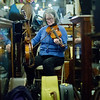 JAY YOUNG | THE GOSHEN NEWS<br /> Beverly Smith, of the Waterbound String Band, plays the violin at the Goshen Historical Society Museum during March's Live and Local First Fridays event.
