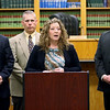 JAY YOUNG | THE GOSHEN NEWS<br /> Elkhart County Prosecutor Vicki Becker delivers the grand jury's verdict in the Elkhart Police shooting of Norman Gary on Wednesday afternoon at the Goshen Police Department. The jury chose not to charge the two officers involved in the shooting.