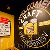 JAY YOUNG | THE GOSHEN NEWS<br /> A chalk drawn welcome sign awaits patrons of the new Craft Burger and Brew restaurant in Elkhart.  The new establishment is taking the place of the old Between the Buns Bar and Grill.