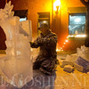 JAY YOUNG | THE GOSHEN NEWS<br /> John Crumpacker, of New Paris, works on carving a dragon out of ice during January's First Friday Fire and Ice event.