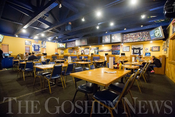 JAY YOUNG | THE GOSHEN NEWS<br /> The indoor seating area of the new Craft Burger and Brew restaurant in Elkhart.  The new establishment is taking the place of the old Between the Buns Bar and Grill.