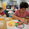 JAY YOUNG | THE GOSHEN NEWS<br /> Bethany Christian sixth grade student Conner Liras works on a colorful design Tuesday afternoon at Bethany Christian. Students in the class were learning about batik dying.
